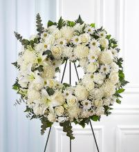 Serene Blessings™ Standing Wreath- White