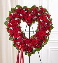 Always Remember™ Floral Heart Tribute- Red